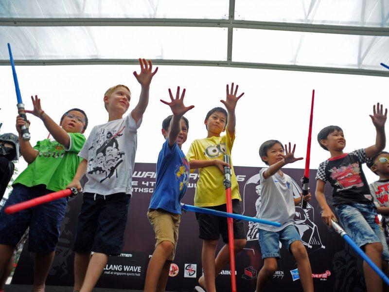 Children at Singapore's Sports Hub.