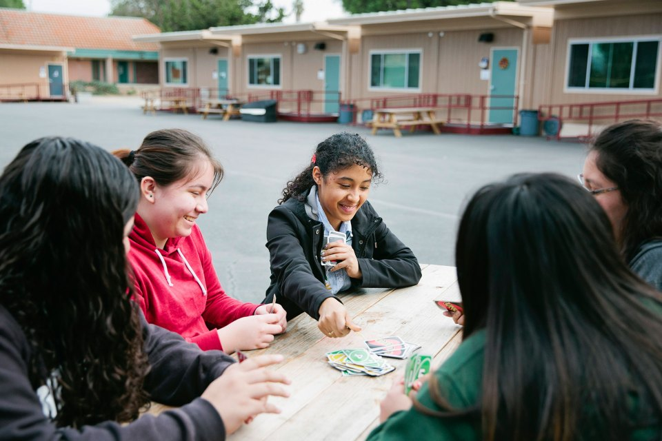 Students at the Luis Valdez Leadership Academy, a charter school on San Jose's low-income east side. Students here are strongly encouraged to go to college.