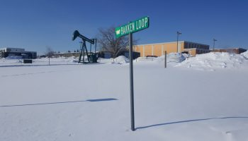 Oil references are everywhere at Williston State College, at the heart of North Dakota's Bakken oilfield.