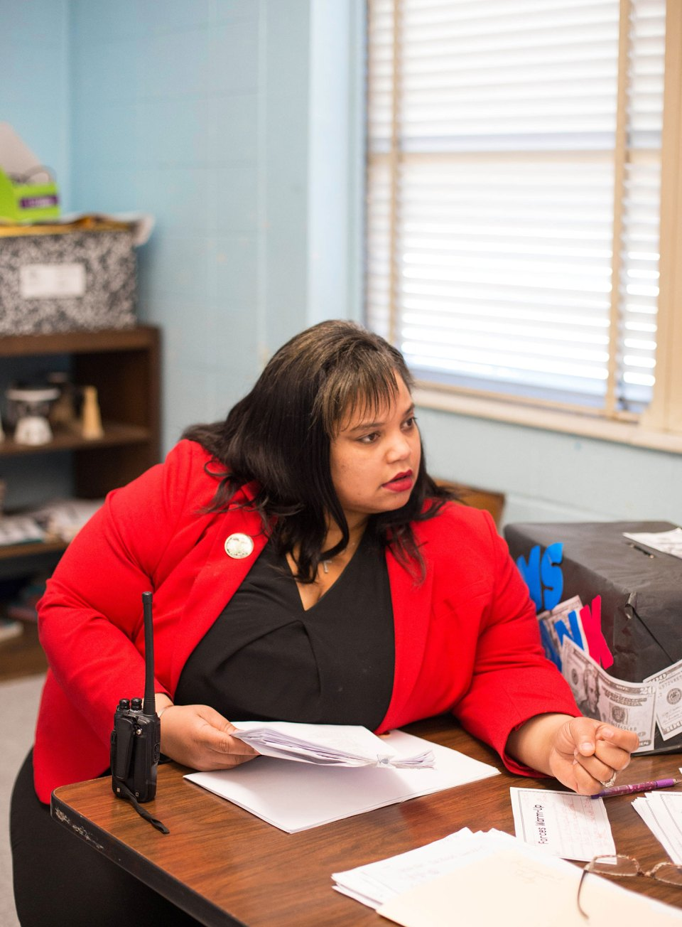Principal Shimelle Mayers gave high marks to the two retired teachers who are among her staff this school year at Brinkley Middle School in Jackson.