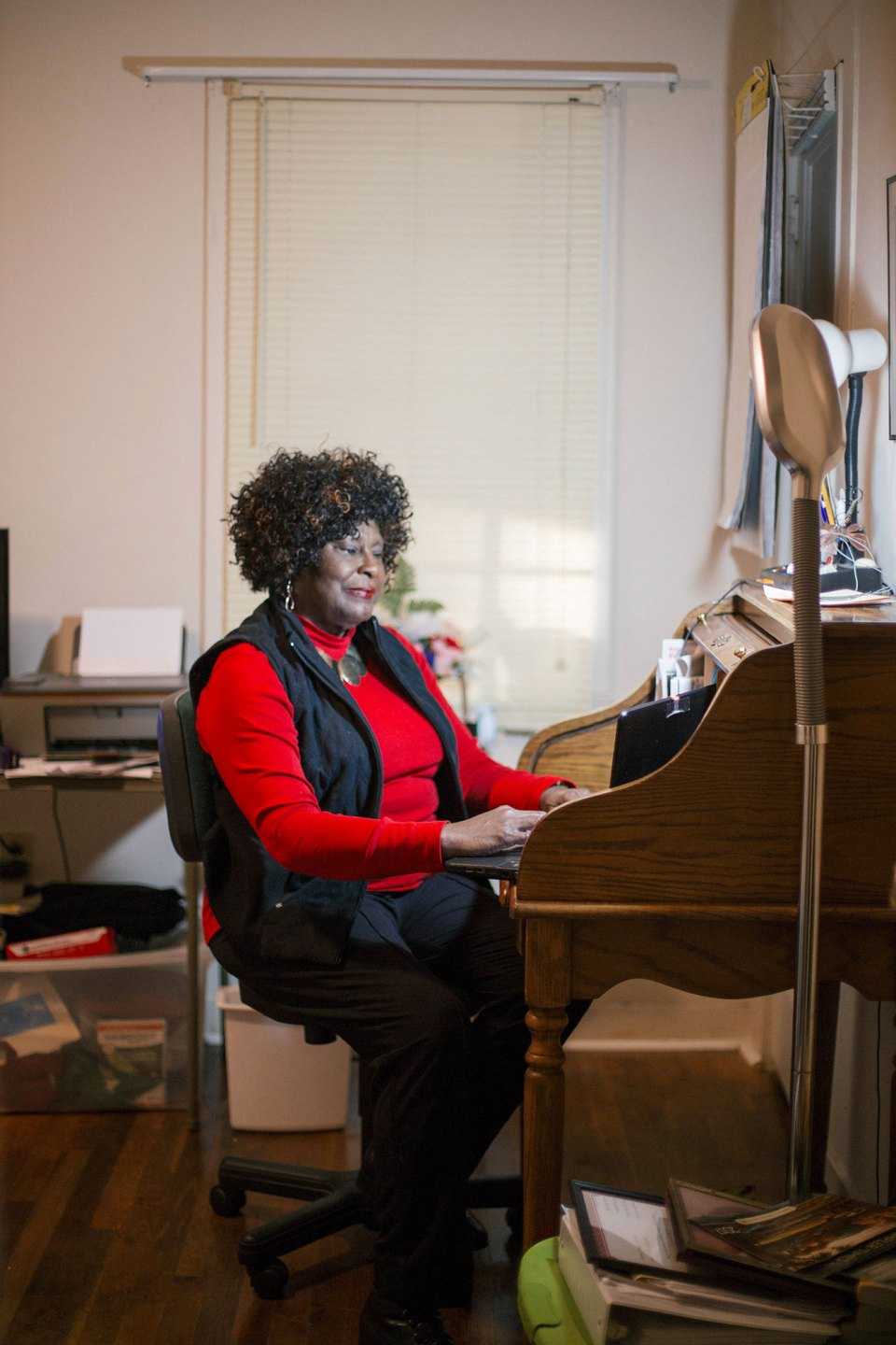 Longtime educator Hymethia W. Thompson, 69, came out of retirement to teach English after learning that Jackson Public Schools were looking for help in local classrooms.