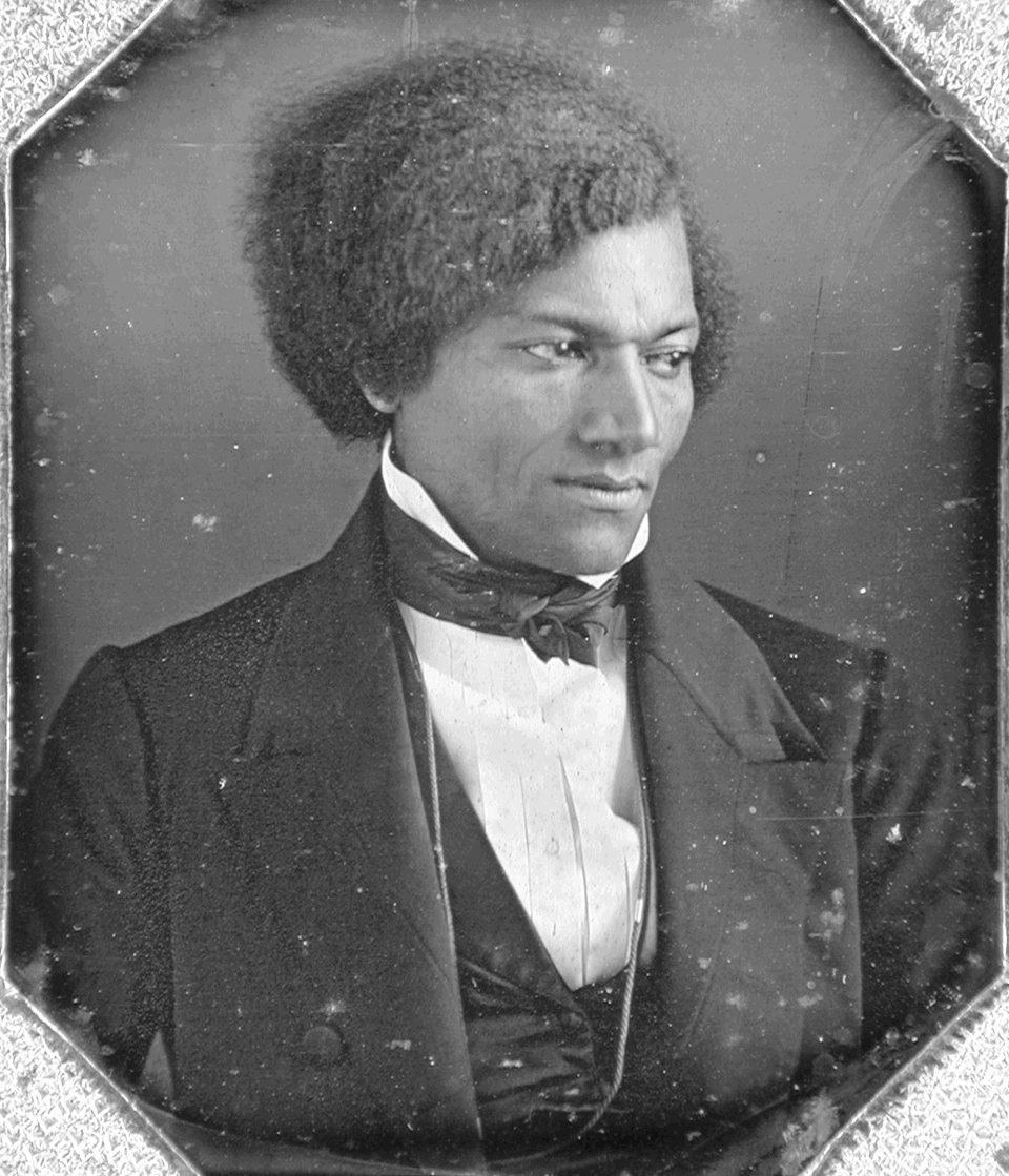 Ex-slave and American abolitionist Frederick Douglass (Frederick Augustus Washington Bailey) (1817 - 1895) as a young man, 1848. He became the first black man to be received at the White House, by President Abraham Lincoln.