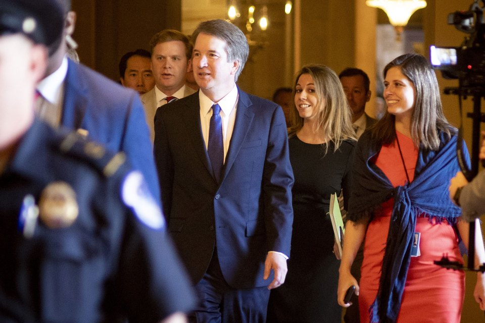 July 11, 2018 - Washington, D.C. - Judge Brett Kavanaugh meets with senators on Capitol Hill ahead of the confirmation hearings for his nomination as associate justice of the Supreme Court of the United States.