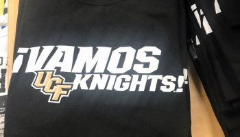 New T-shirts in the campus bookstore symbolize the University of Central Florida's identity as one of the state's Hispanic-Serving Institutions.