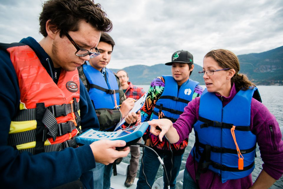 High school students collecting water samples on Flathead Lake. In addition to encouraging students like these to go to college, Montana officials are trying to persuade increasingly skeptical voters that they should continue paying for it.