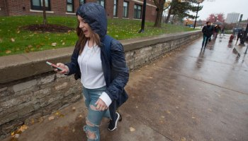 "As a student from a tiny rural hometown, Kendra Beaudoin found unexpected obstacles when she arrived last year at the University of Michigan. She had to use a paper map to find her way around after losing her phone, couldn't figure out the bus system and didn't understand crosswalks. ""Those aren't a thing where I live."""
