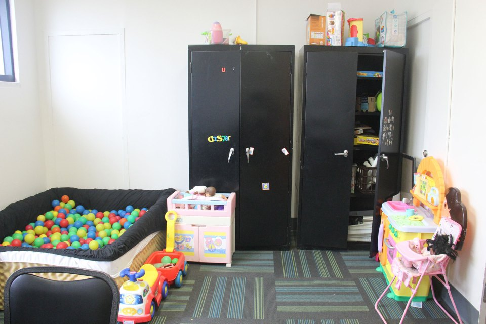 The play therapy room at the Leland Medical Clinic.