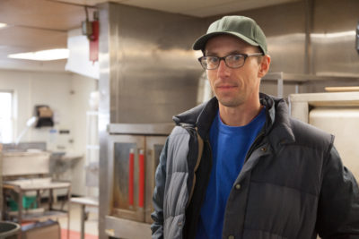 Goddard College in Plainfield, Vermont, which has been placed on probation by its accreditor, is a big customer for Justin Cote, co-owner of Flywheel Farm.