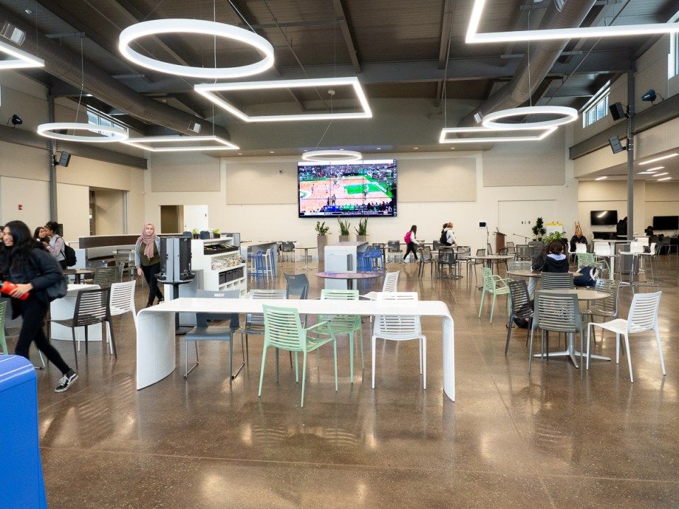 Yerba Buena High School opened a new cafeteria and college-inspired commons area in June 2018, built with funds from a long-term construction bond.