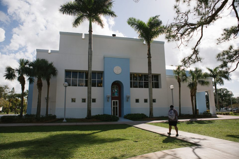 The chapel at St. Thomas University. Expelled from Cuba in 1961, the Catholic university is shoring up its finances by expanding its graduate programs, its new president says.