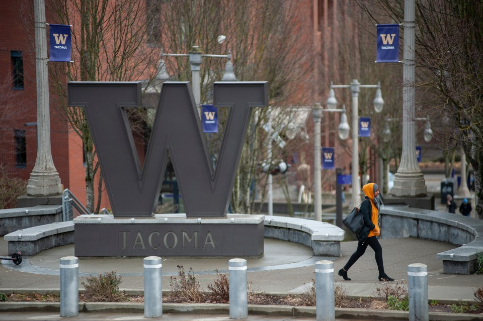 """The University of Washington-Tacoma, which began a program in January with the local housing authority that reserves 52 """"micro-units"""" — 255 square feet apiece — for homeless students or students at risk of becoming homeless."""