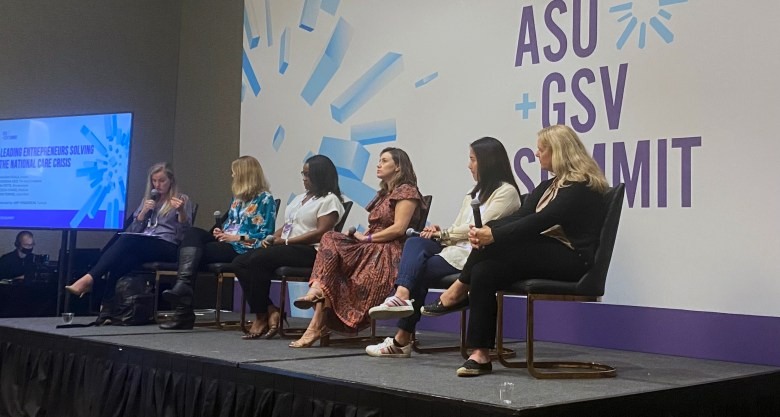 The future of higher education and the state of child care were big topics at the ASU-GSV summit in San Diego.