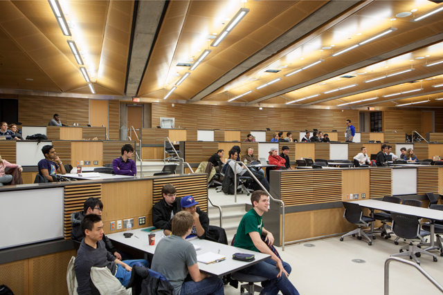 A 300 student classroom at University of Windsor, Canada.