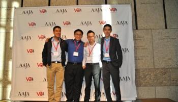 Arthur Wang with members of B.O.S.S. - Brotherhood of Social Sciences.