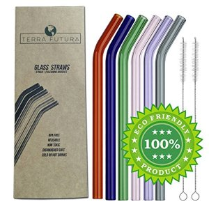 eco friendly glass straws pack