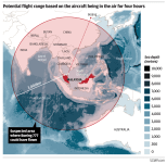 MH 370 - If aircraft flew on for 4 hours, plot of possible flight range