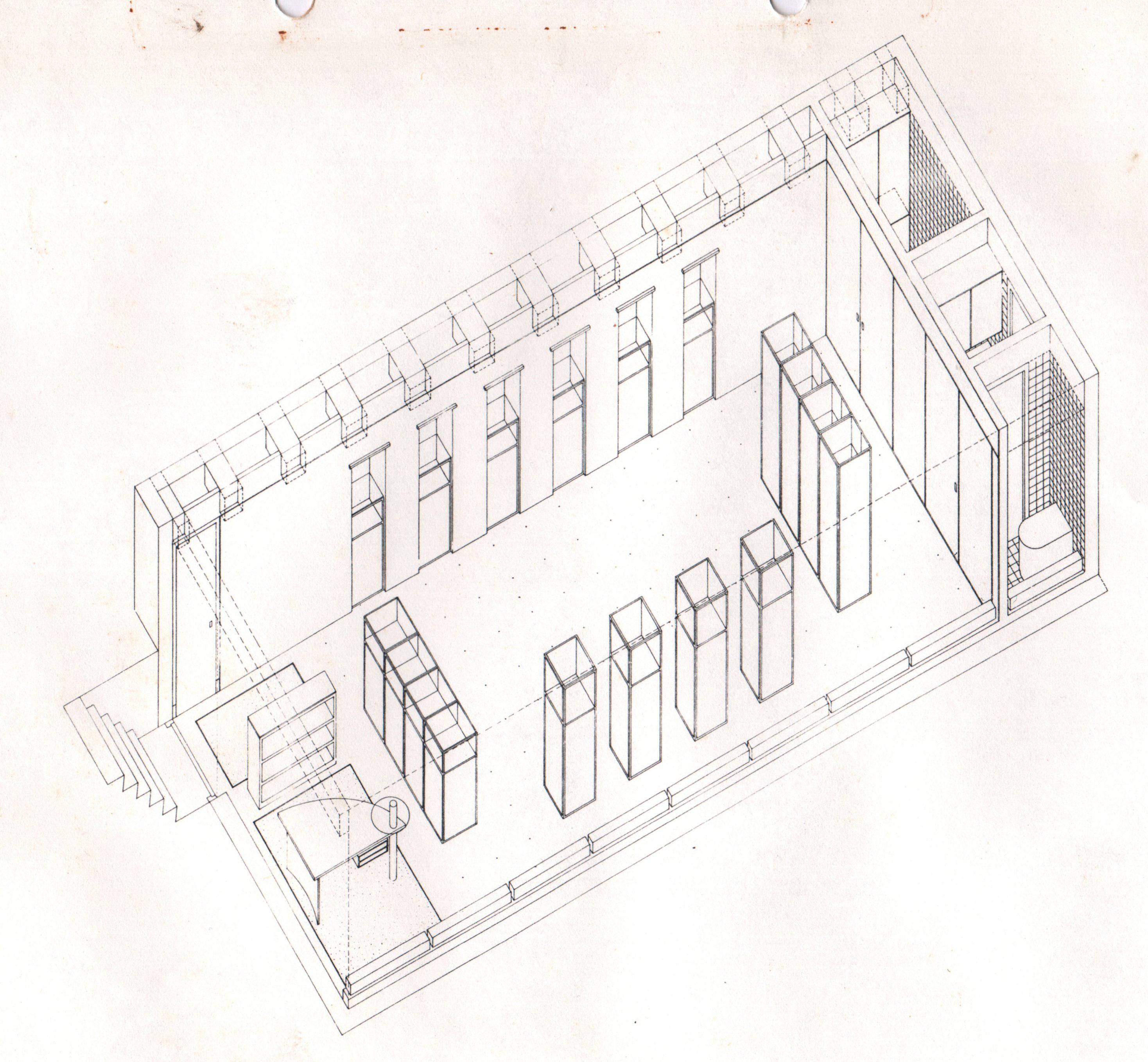 Galerie Louise Smit, ontwerptekening door Postma en Dieperink