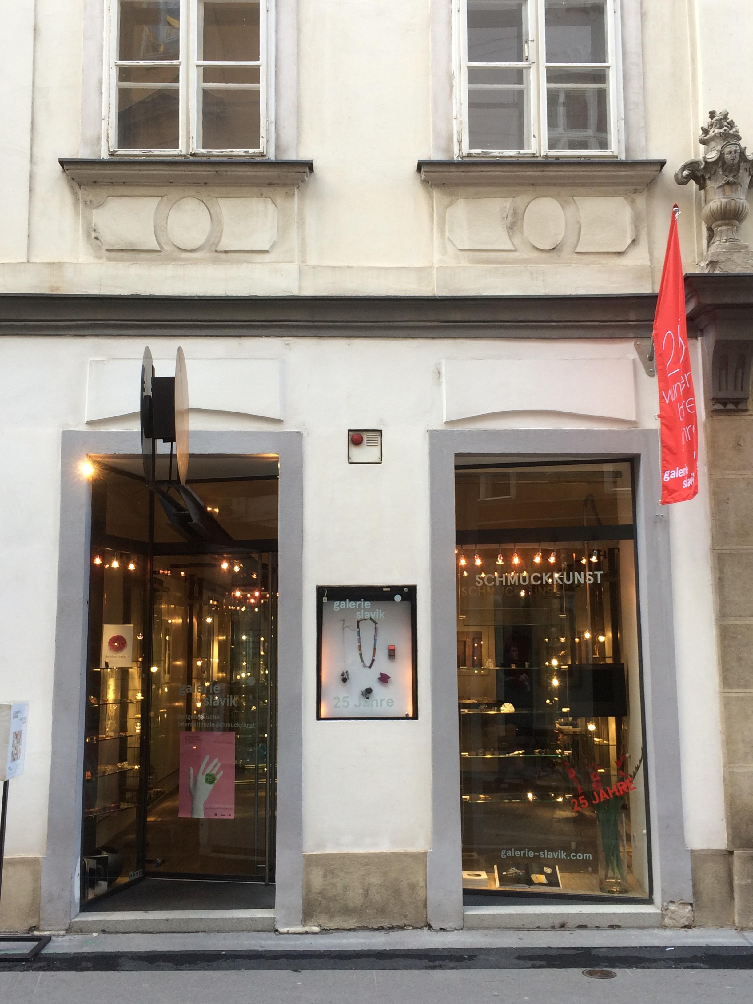 Galerie Slavik, Wenen, 2016, gevel