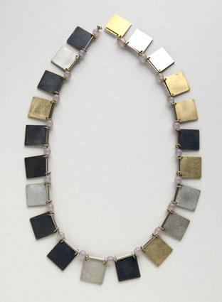 Herman Hermsen, Little books necklace, 1998, metaal