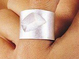 Onno Boekhoudt, ring, 1997. Collectie Design Museum Den Bosch, zilver