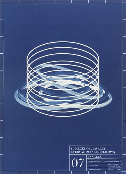 Liesbet Bussche, Blueprint of an Entire Jewelry Collection in 11 Pieces, 7, 2014, drukwerk, papier