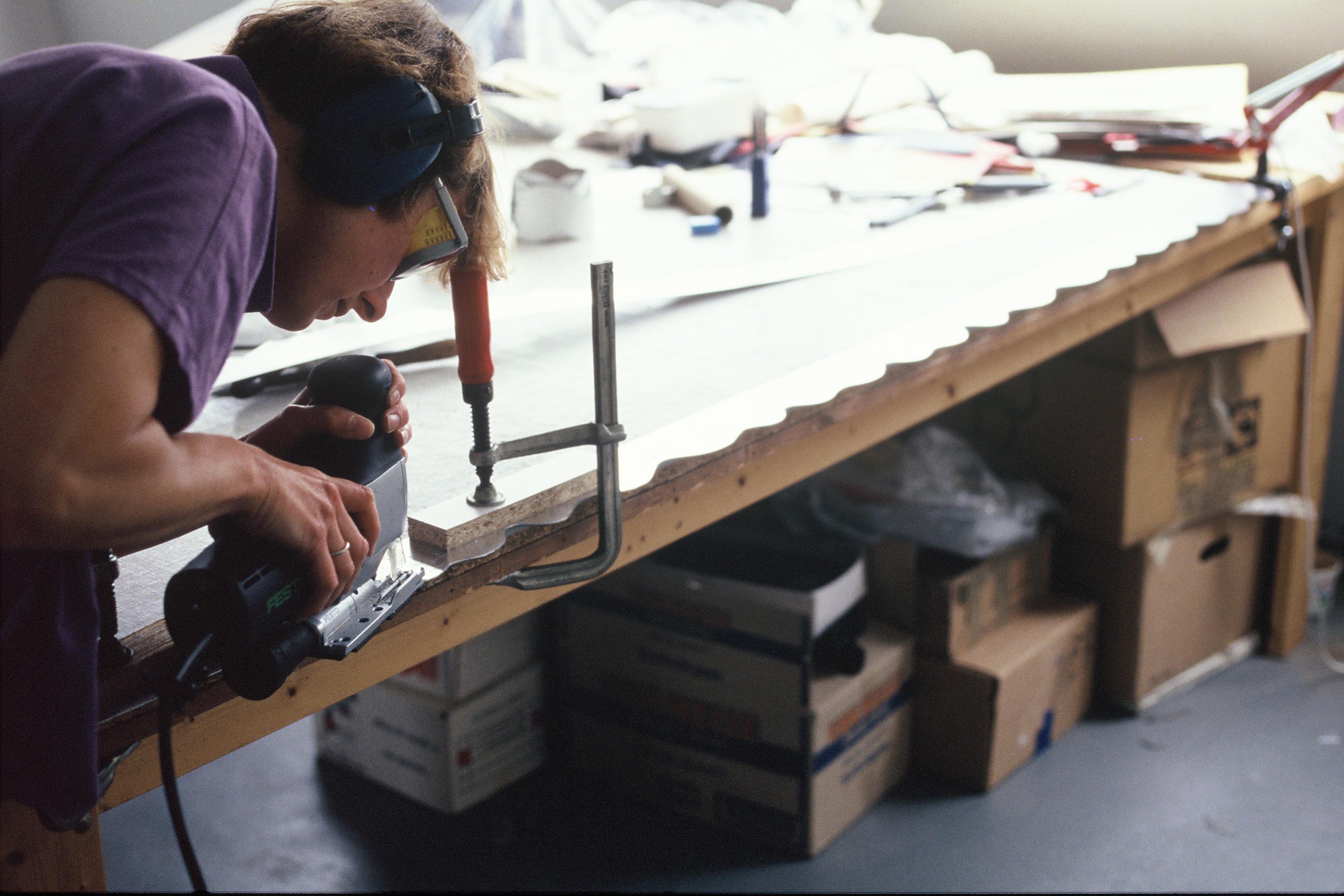 Maria Hees in haar atelier, 1991
