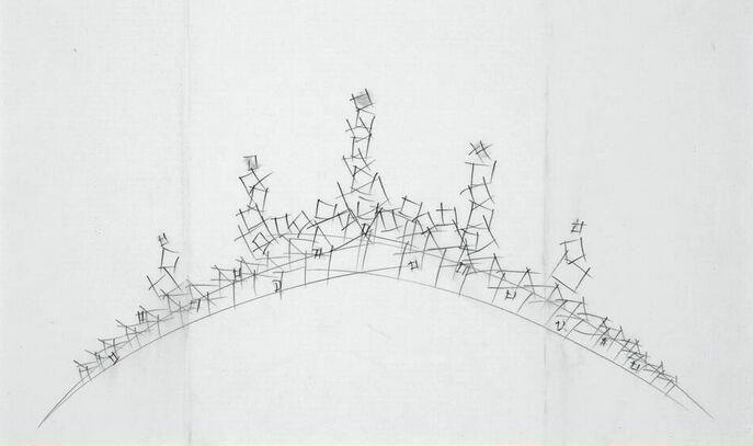 Marijke de Goey, ontwerptekening diadeem, 2001. Collectie Design Museum Den Bosch, tekening, papier