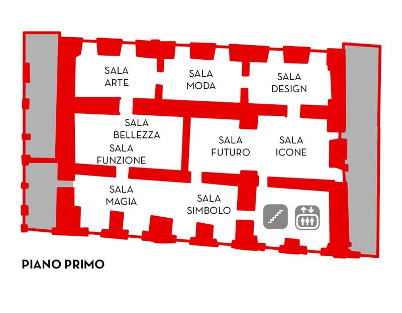 Museo del Gioiello, eerste verdieping. Foto met dank aan Museo del Gioiello©