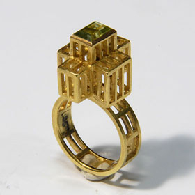 Daniel Kruger, ring, goud, steen