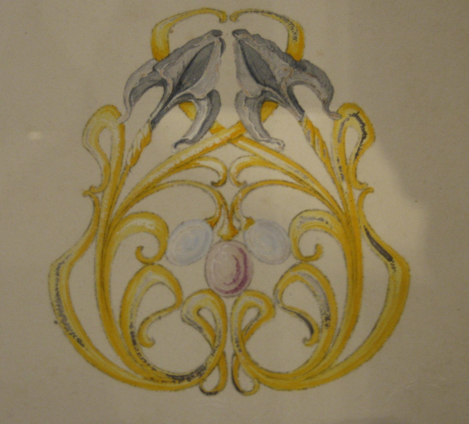 Philippe Wolfers, ontwerptekening, papier