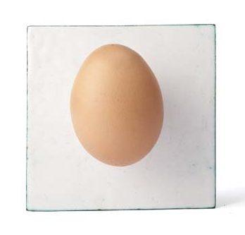Ulrich Reithofer, Egg on White, broche, 2012. Foto met dank aan Galerie Marzee©
