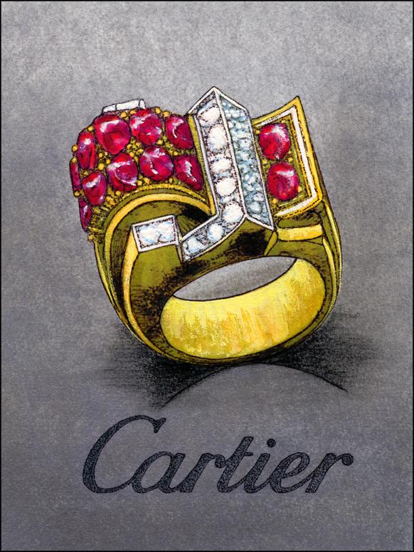 Cartier, tekening, 1969, papier, verf