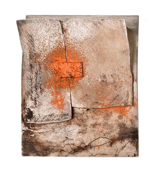 Heidemarie Herb, Panta rhei, broche, 2018, metaal