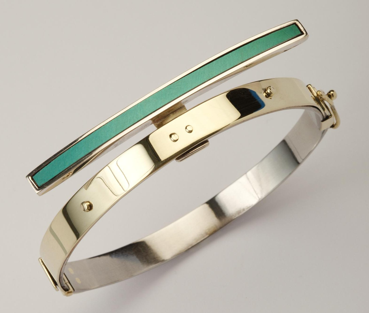 Karel Betman, armband, goud, zilver, aluminium, roestvrij staal