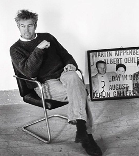 Manfred Bischoff in zijn atelier, portret