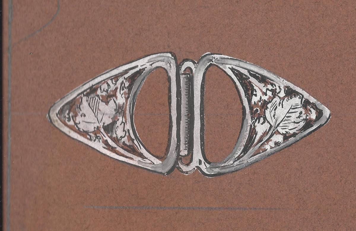 Agipa Fres, tekening ceintuurgesp. Foto met dank aan Grafische Sammlung Stern©