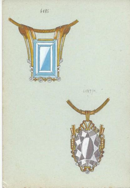 Cheva, ontwerptekening hangers, 1930-1940. Foto met dank aan Grafische Sammlung Stern©
