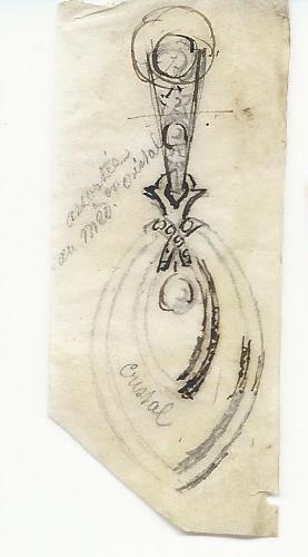 Alfred Daubree, tekening, 1840-1885. Foto met dank aan Grafische Sammlung Stern©