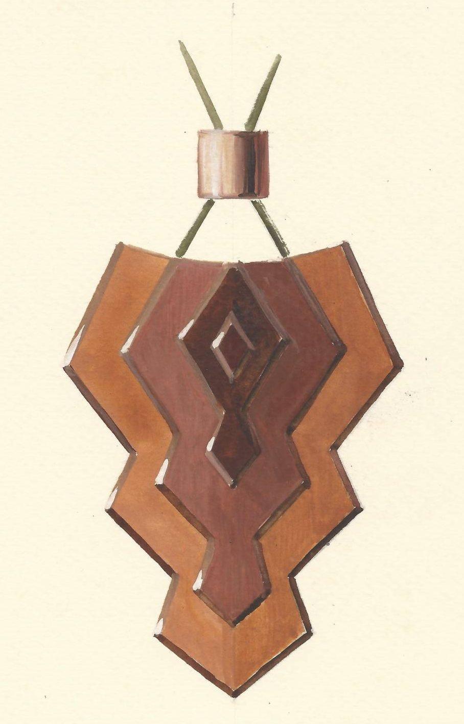 Victor-David Greidenberg, ontwerptekening hanger, circa 1930. Foto met dank aan Grafische Sammlung Stern©