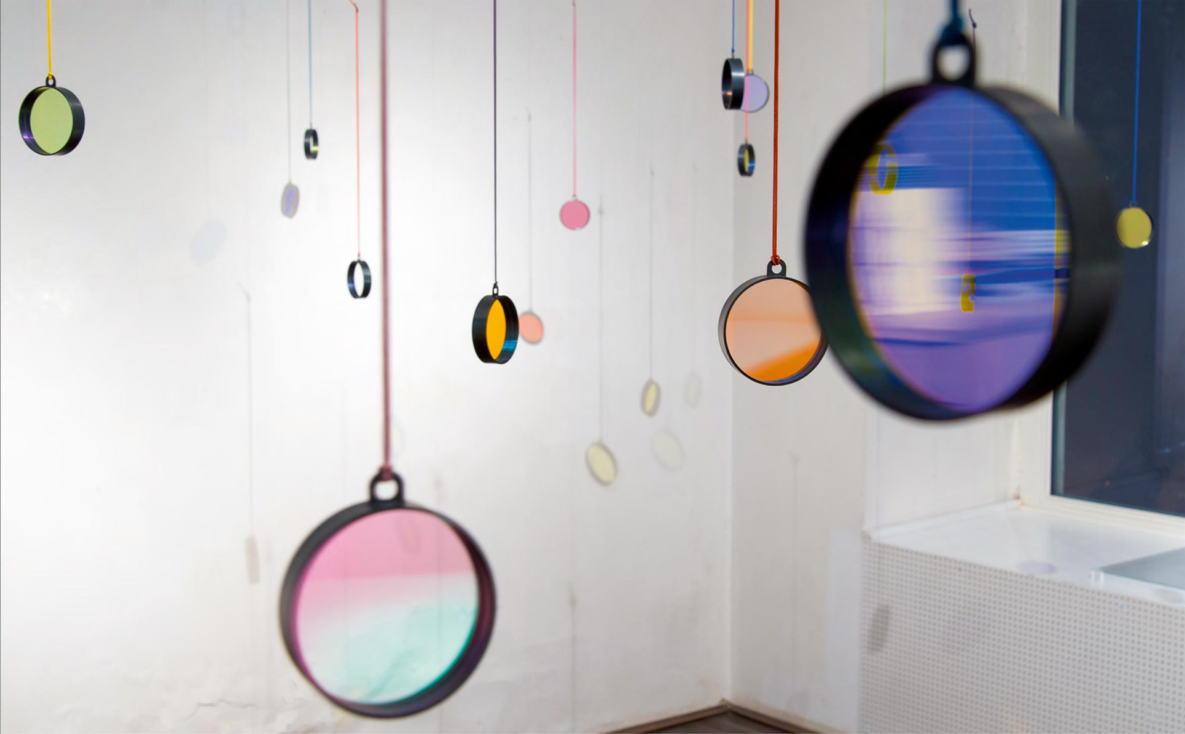 Jiro Kamata, Bi Pendant, halssieraden, 2013, OONA, cameralenzen, koord