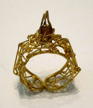 Jürgen Eickhoff, ring, 2004, metaal, steen