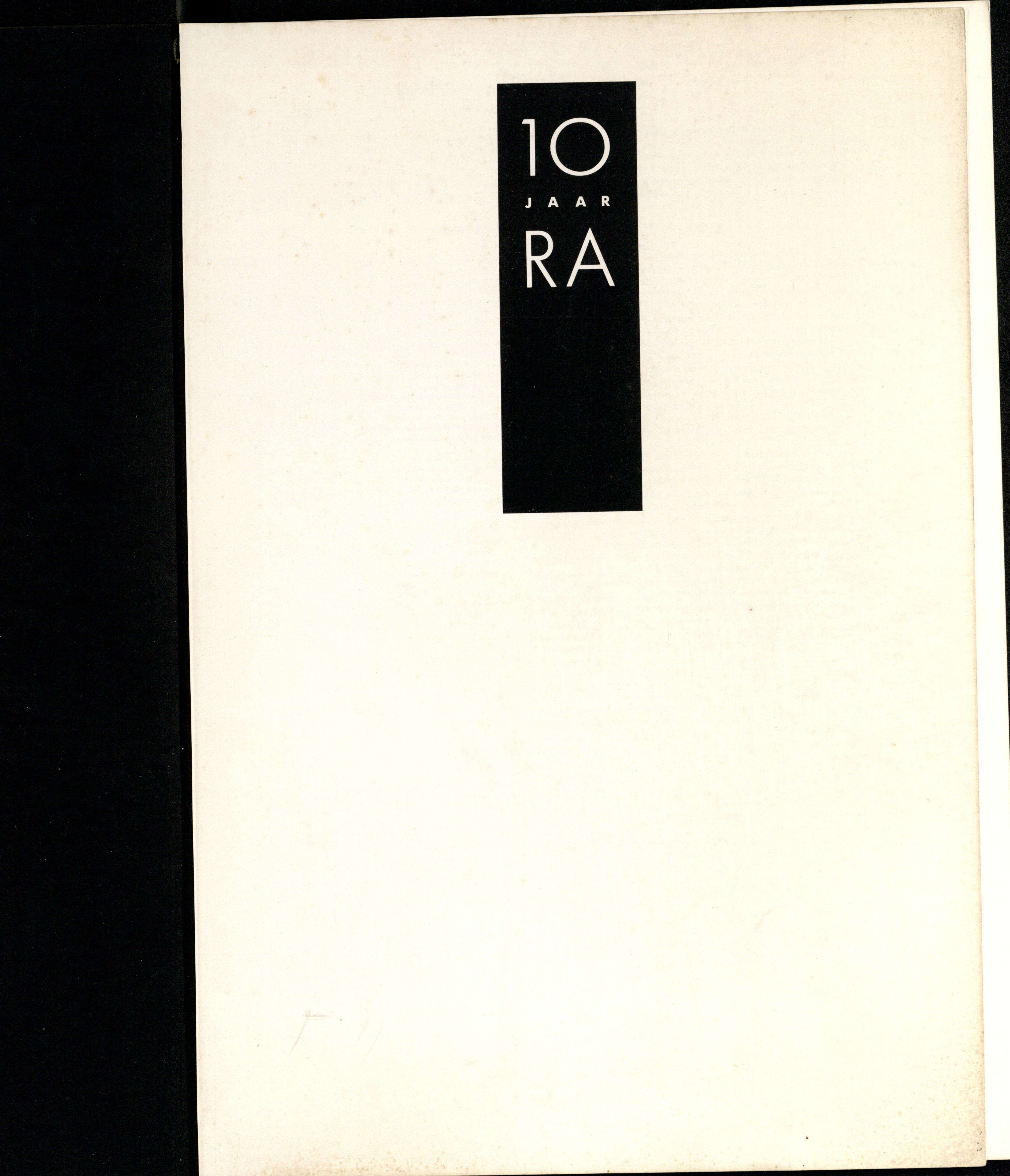 10 Jaar Ra, bladzijde 1, 1986, Galerie Ra, drukwerk, papier