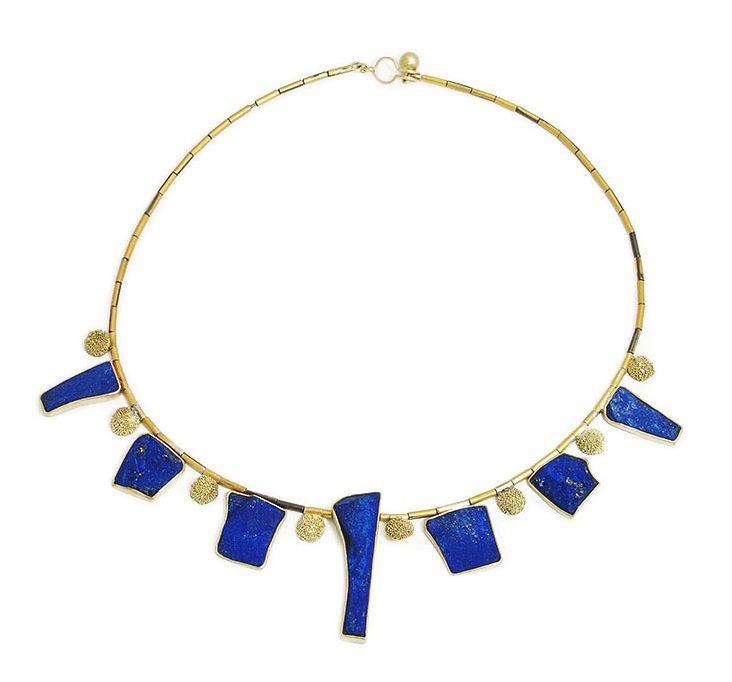 Harold O'Connor, Asia Minor, halssieraad, 2016, goud, zilver, lapis lazuli
