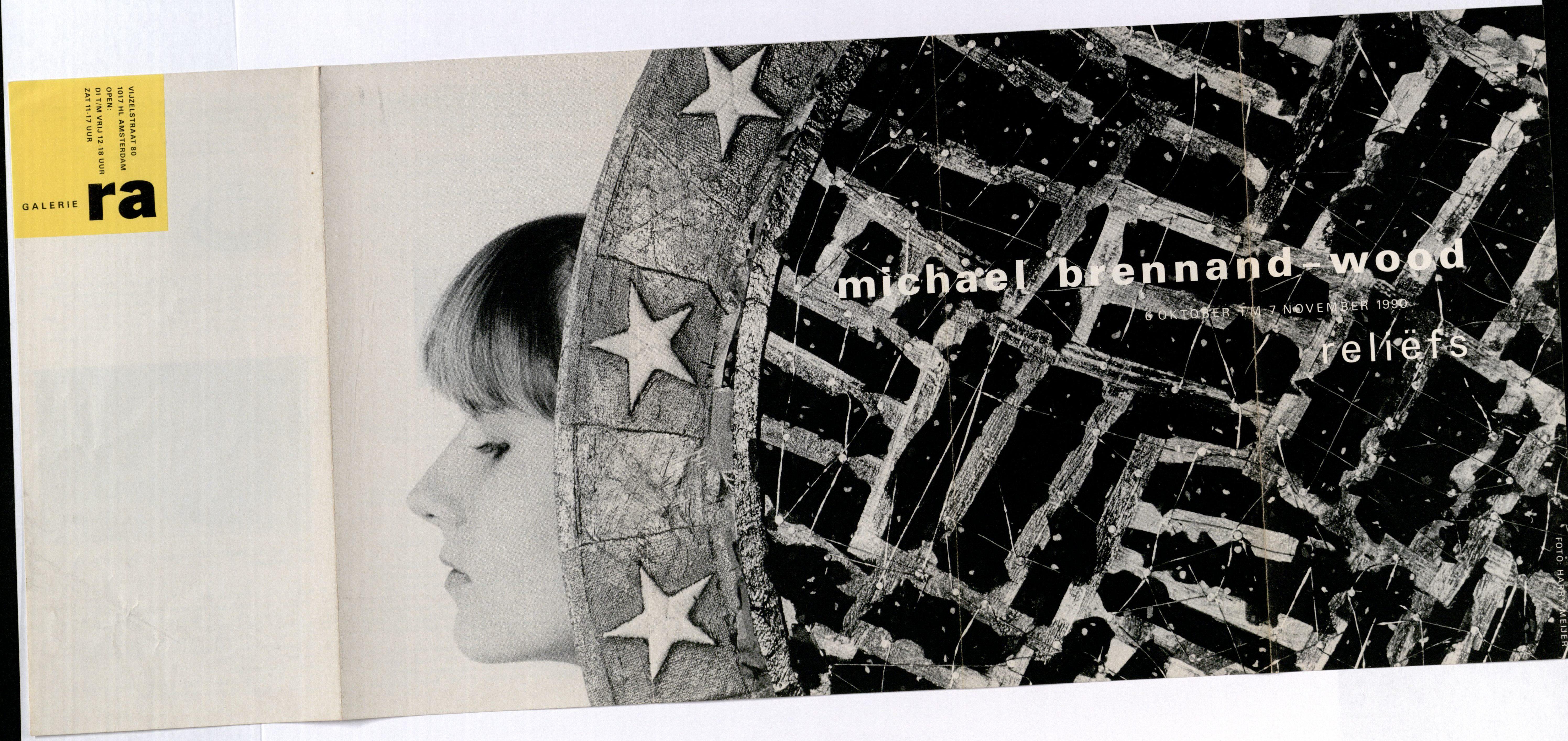 Ra Bulletin 56, oktober 1990, voorzijde met foto van Harry Meijer met reliëf van Michael Brennand-Wood, papier, drukwerk
