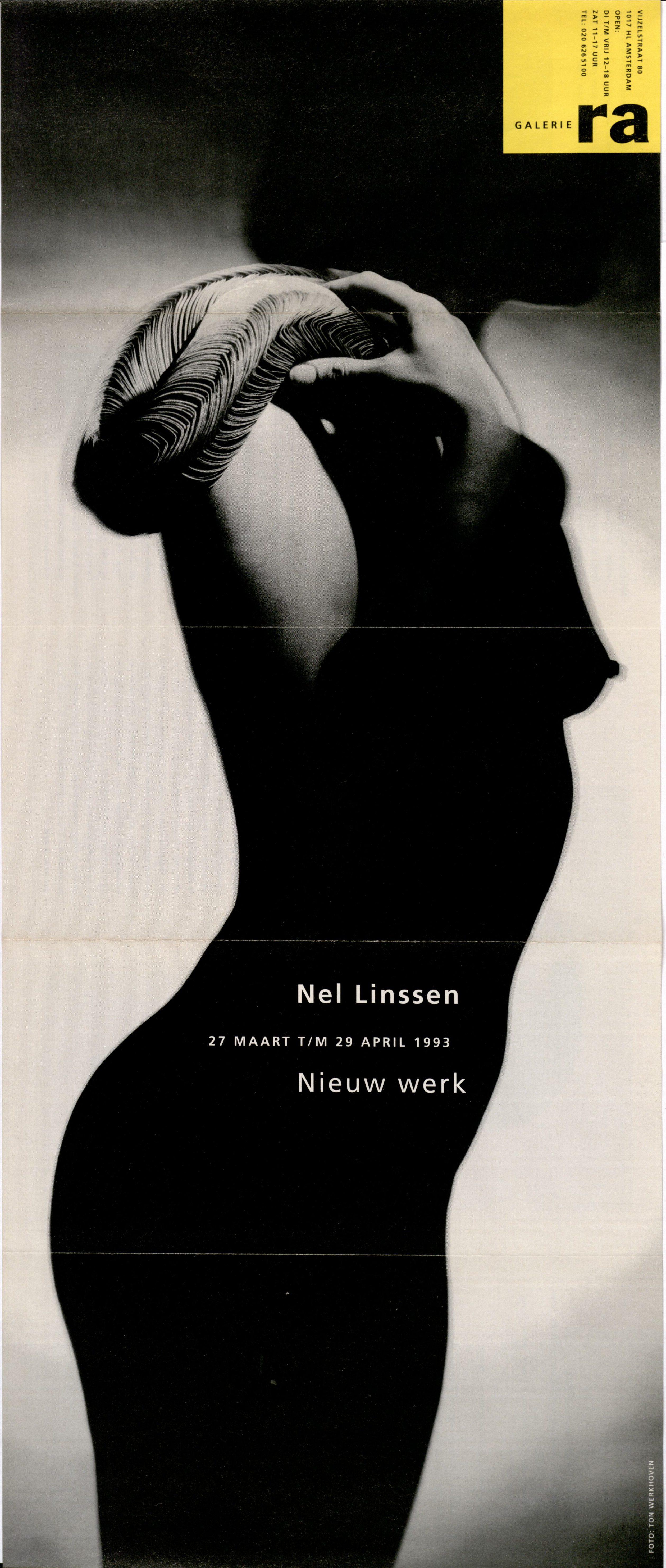 Ra Bulletin 72, maart 1993, voorzijde met foto van Ton Werkhoven met sieraad van Nel Linssen, drukwerk, papier, gelamineerd papier