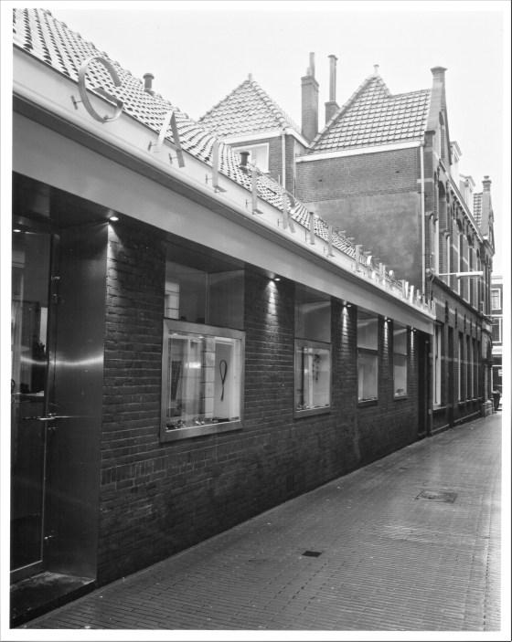 Galerie Lous Martin, Kromstraat 3 Delft, gebouw, exterieur