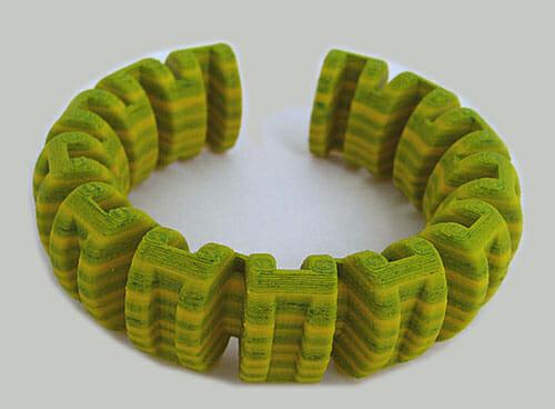 Ben Wisman, armband, 2014, kunststof