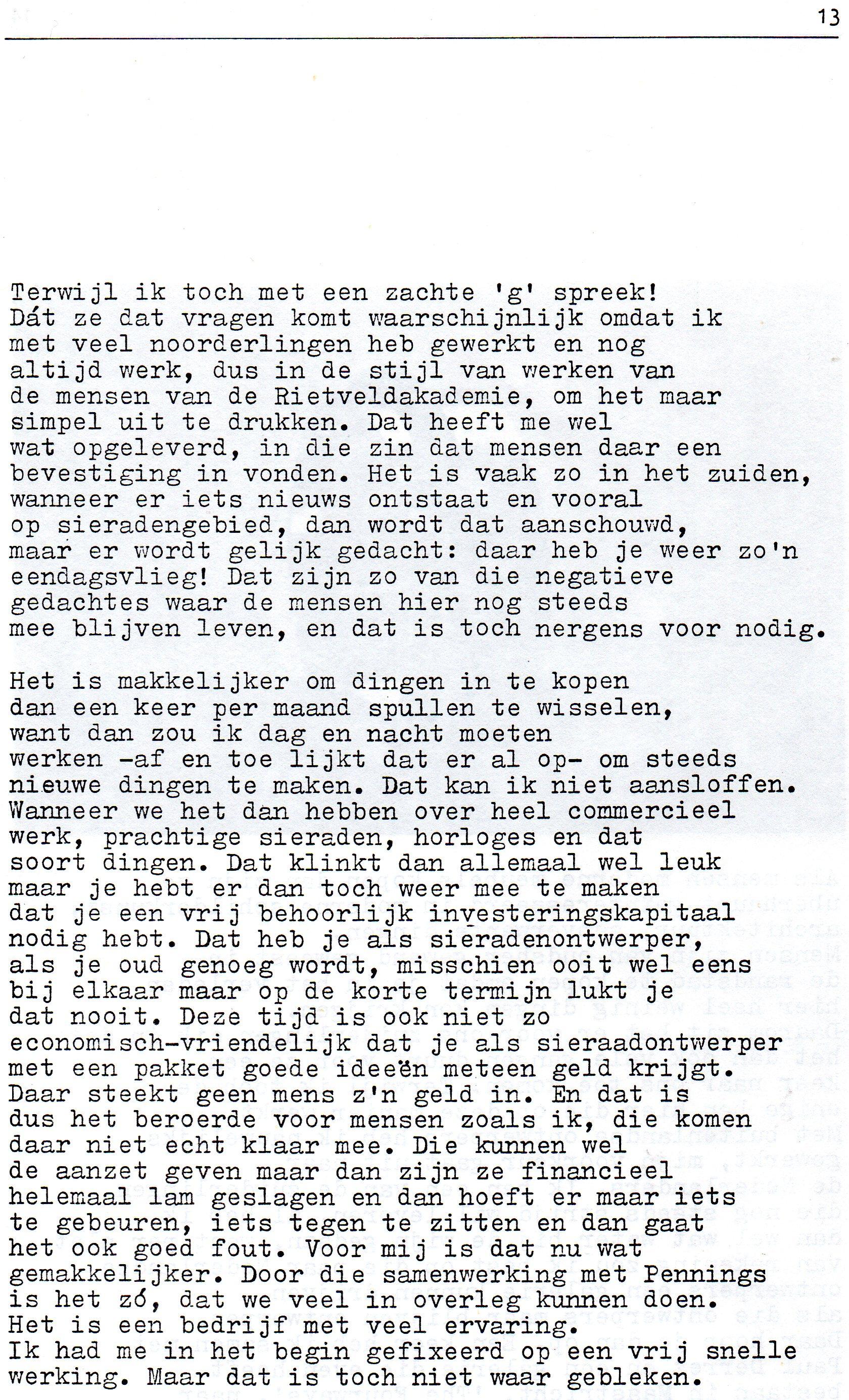 Clemens van den Broeck in het VES bulletin, 6, papier, typoscript