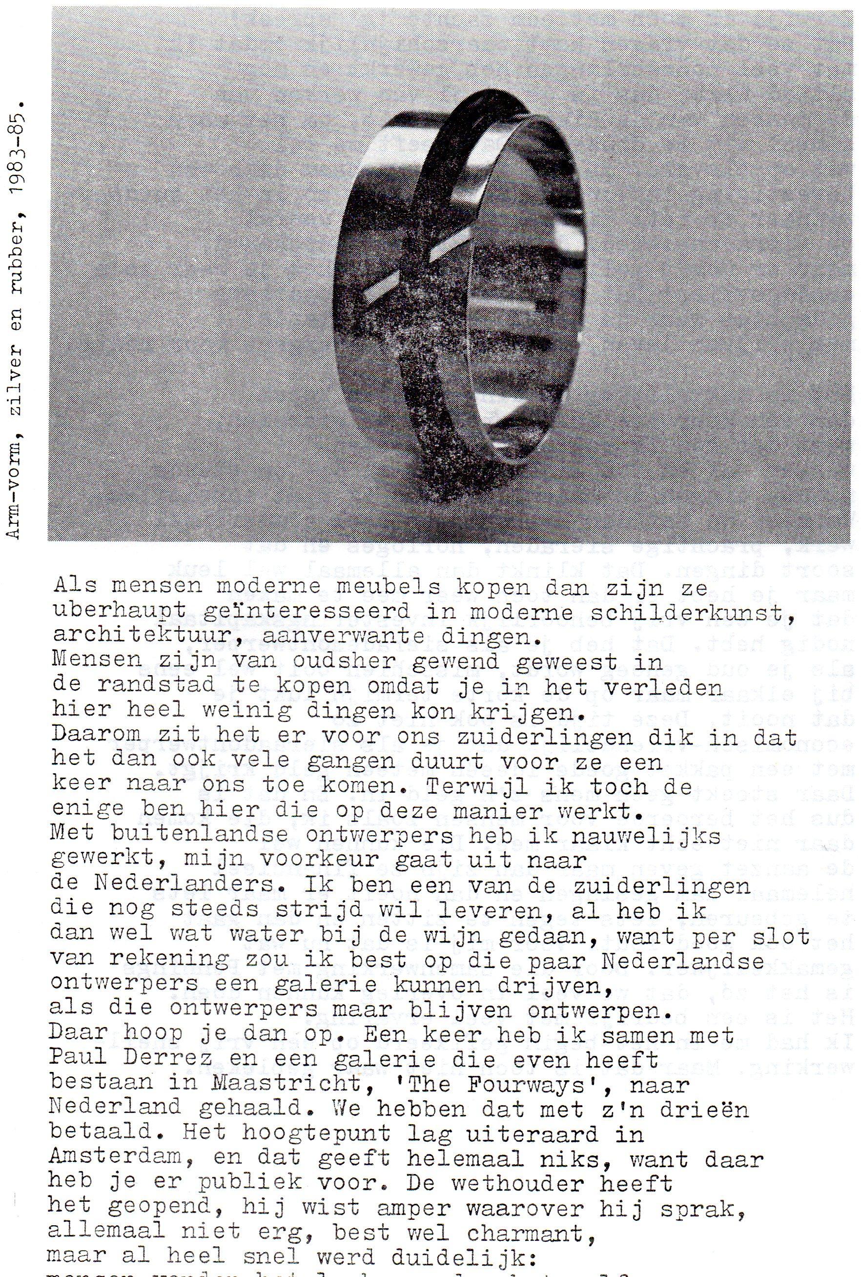 Clemens van den Broeck in het VES bulletin, 6., papier, typoscript