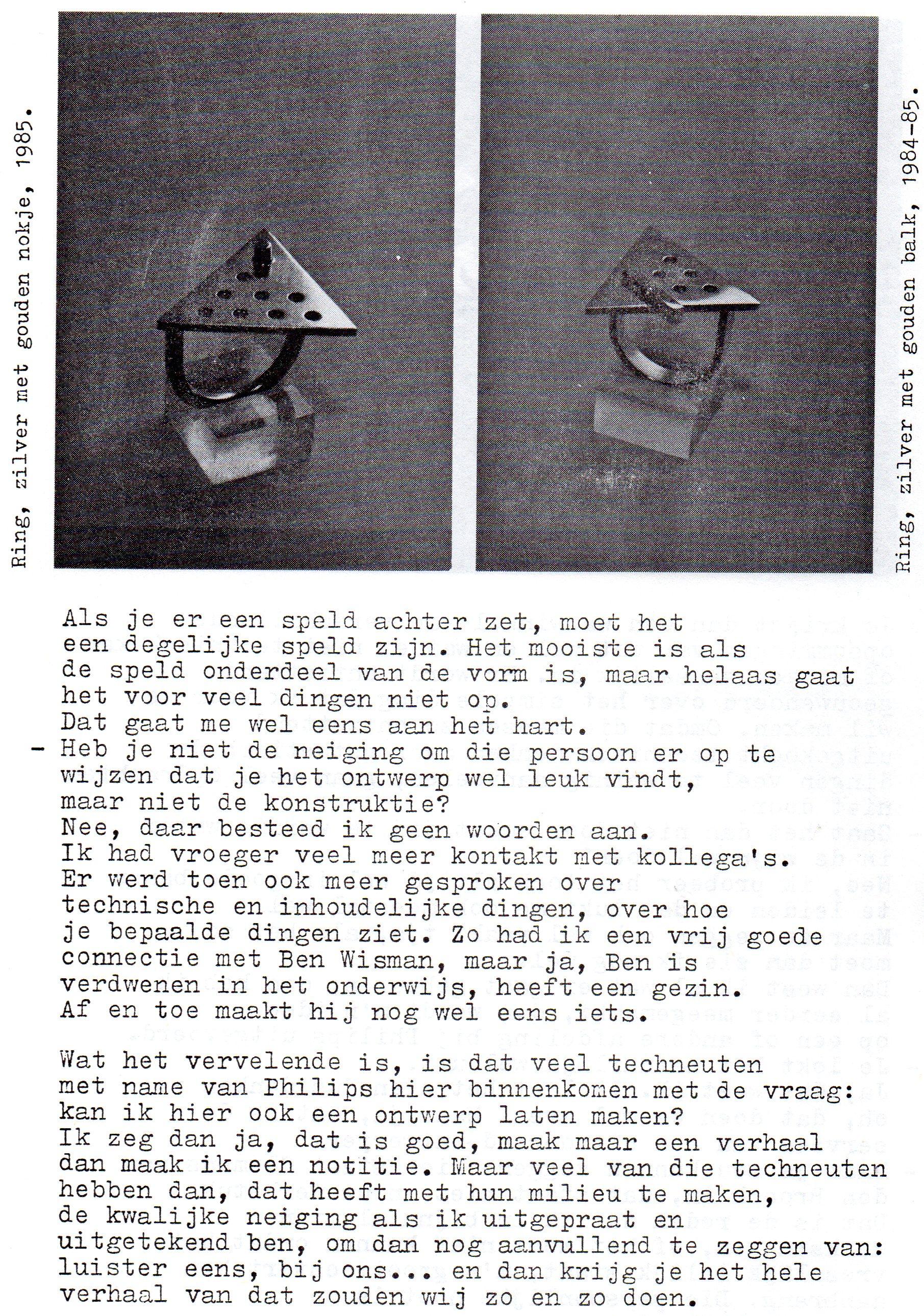 Clemens van den Broeck in het VES bulletin, 11, papier, typoscript